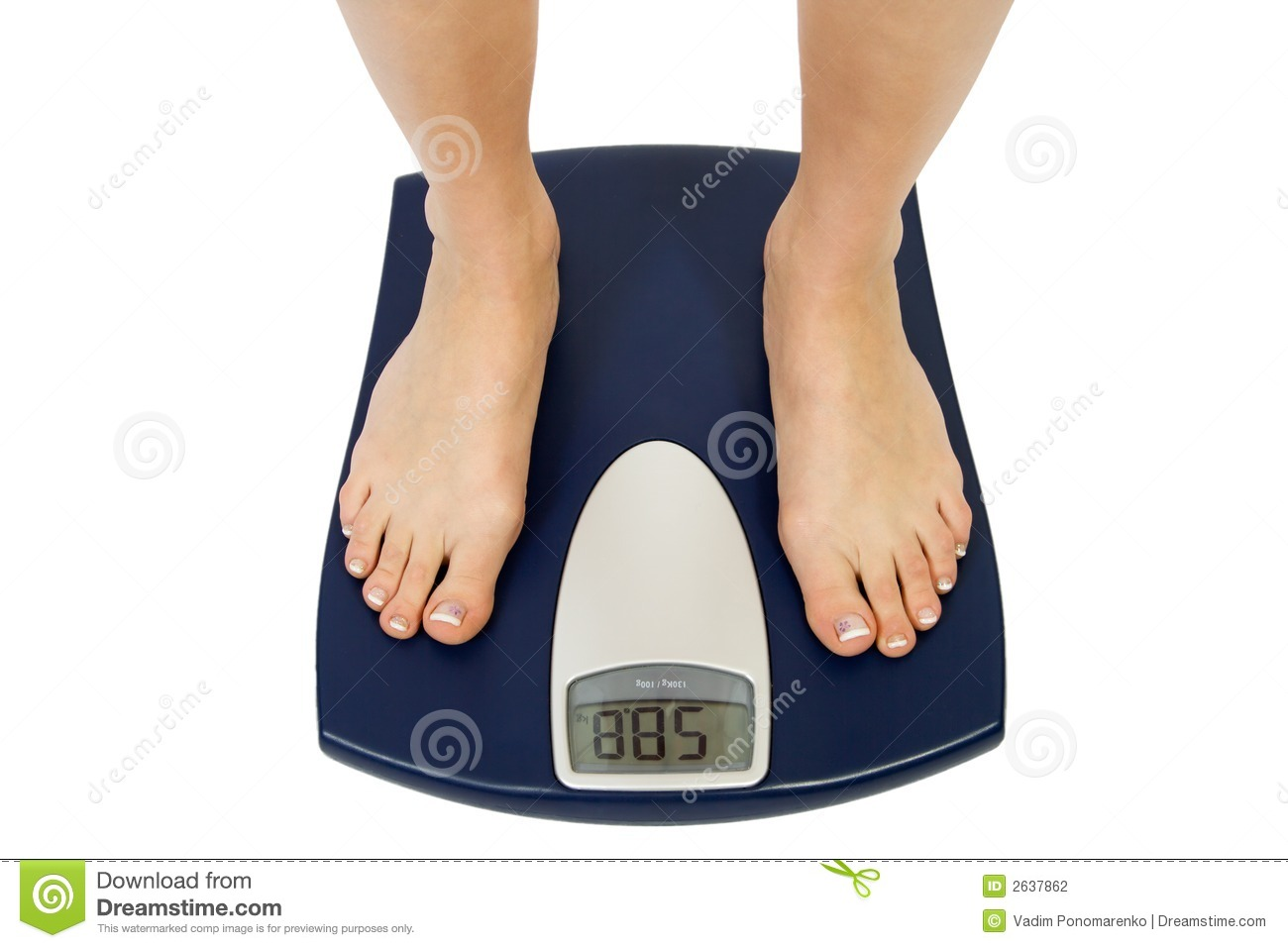 Female Feet On A Scale Stock Photography Image 2637862