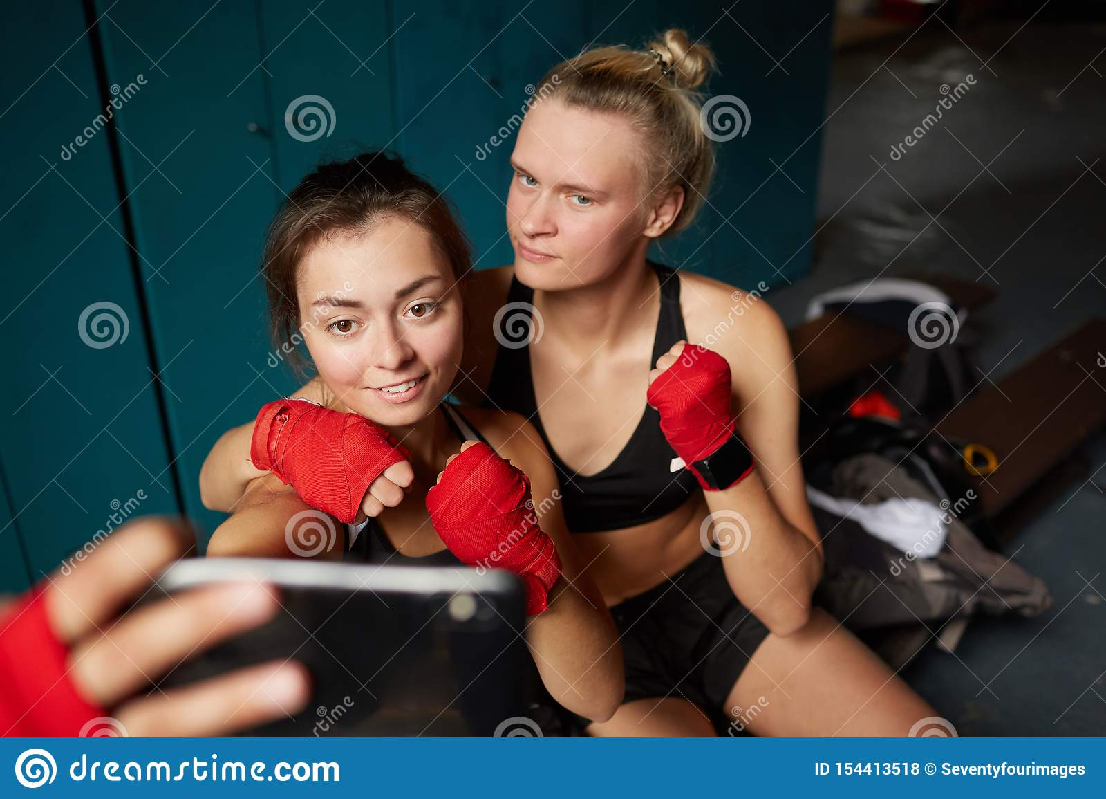 Female Fighters Taking Selfie