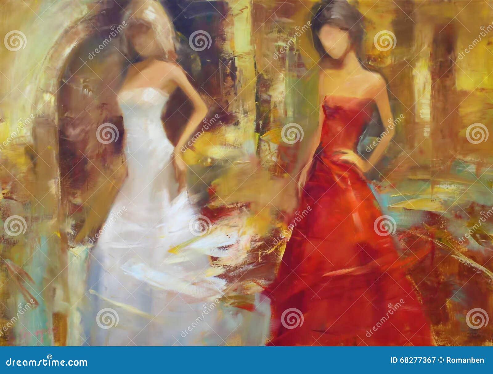 Female Figures Handmade Oil Painting On Canvas