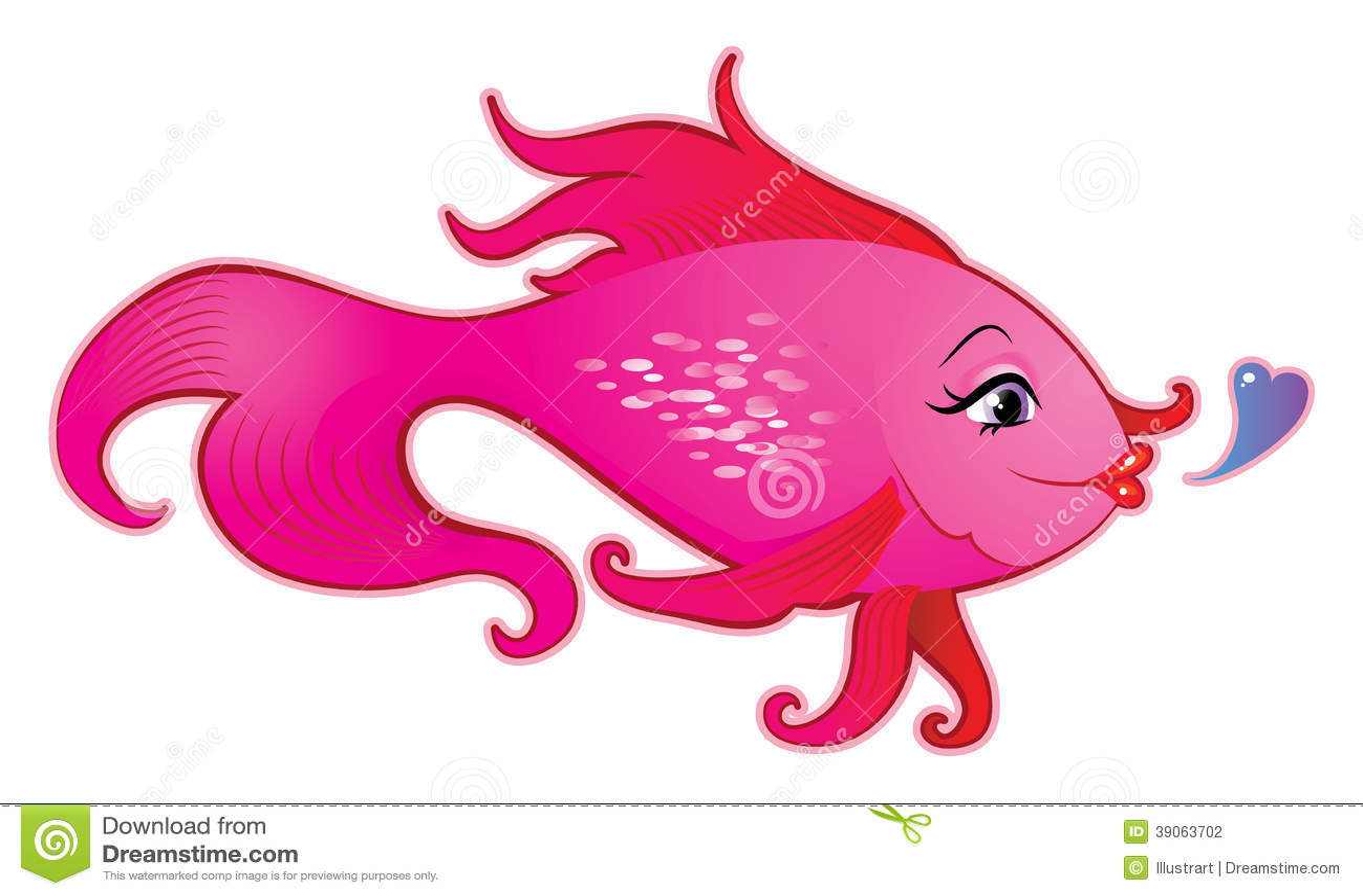 Pretty Fish Cartoon