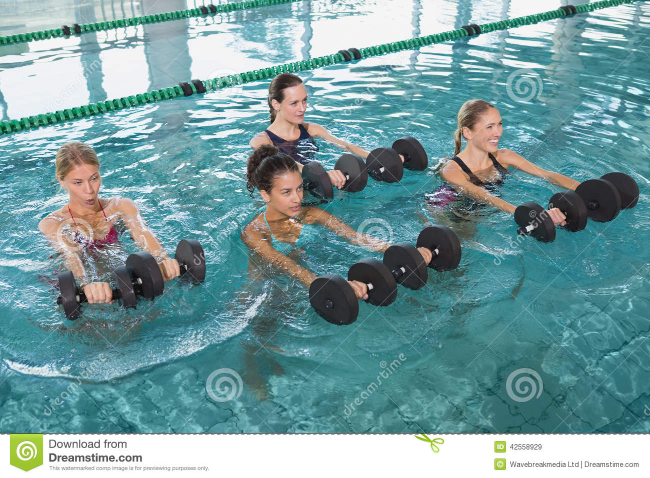 how to use swimming dumbbells