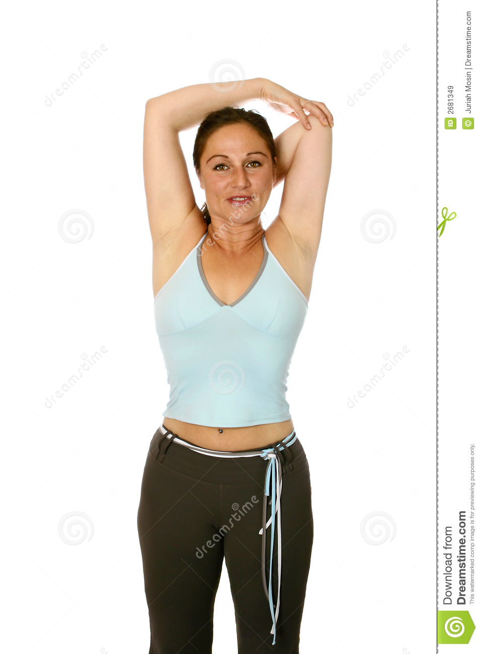 female fitness trainer royalty free stock images image