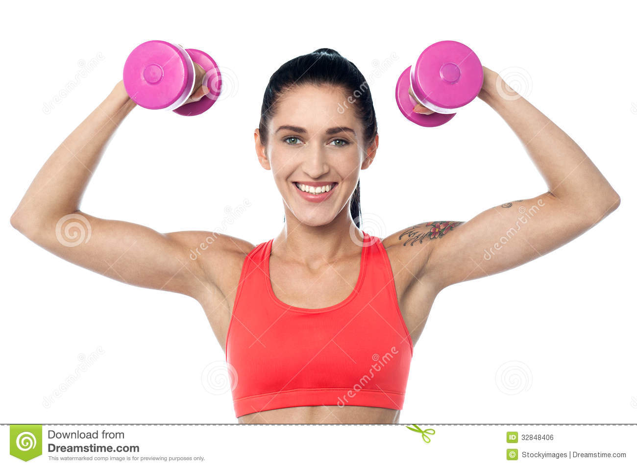 Her biceps related keywords her biceps long tail for Lady fitness