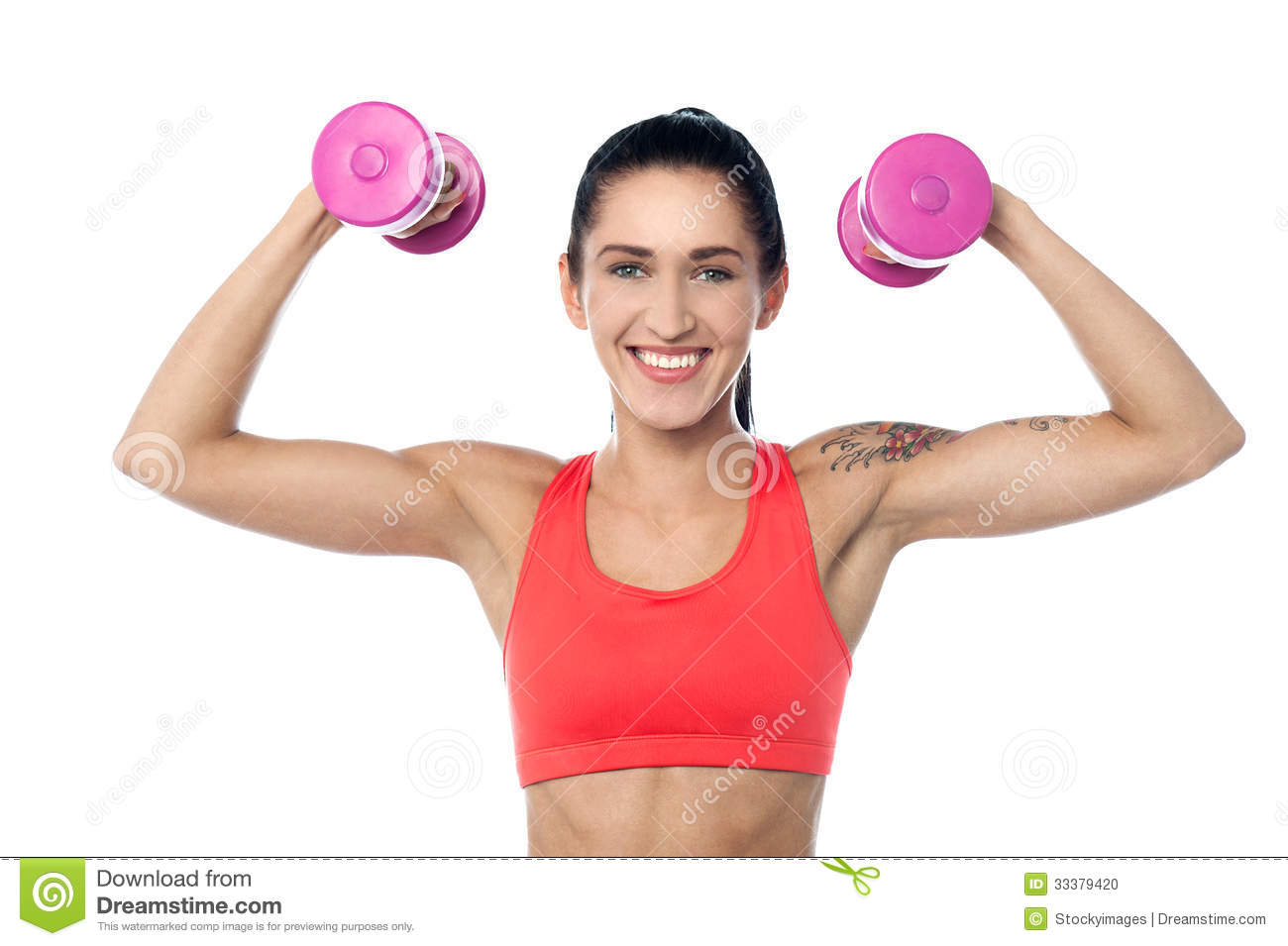 Female fitness trainer working out stock photo image for Lady fitness