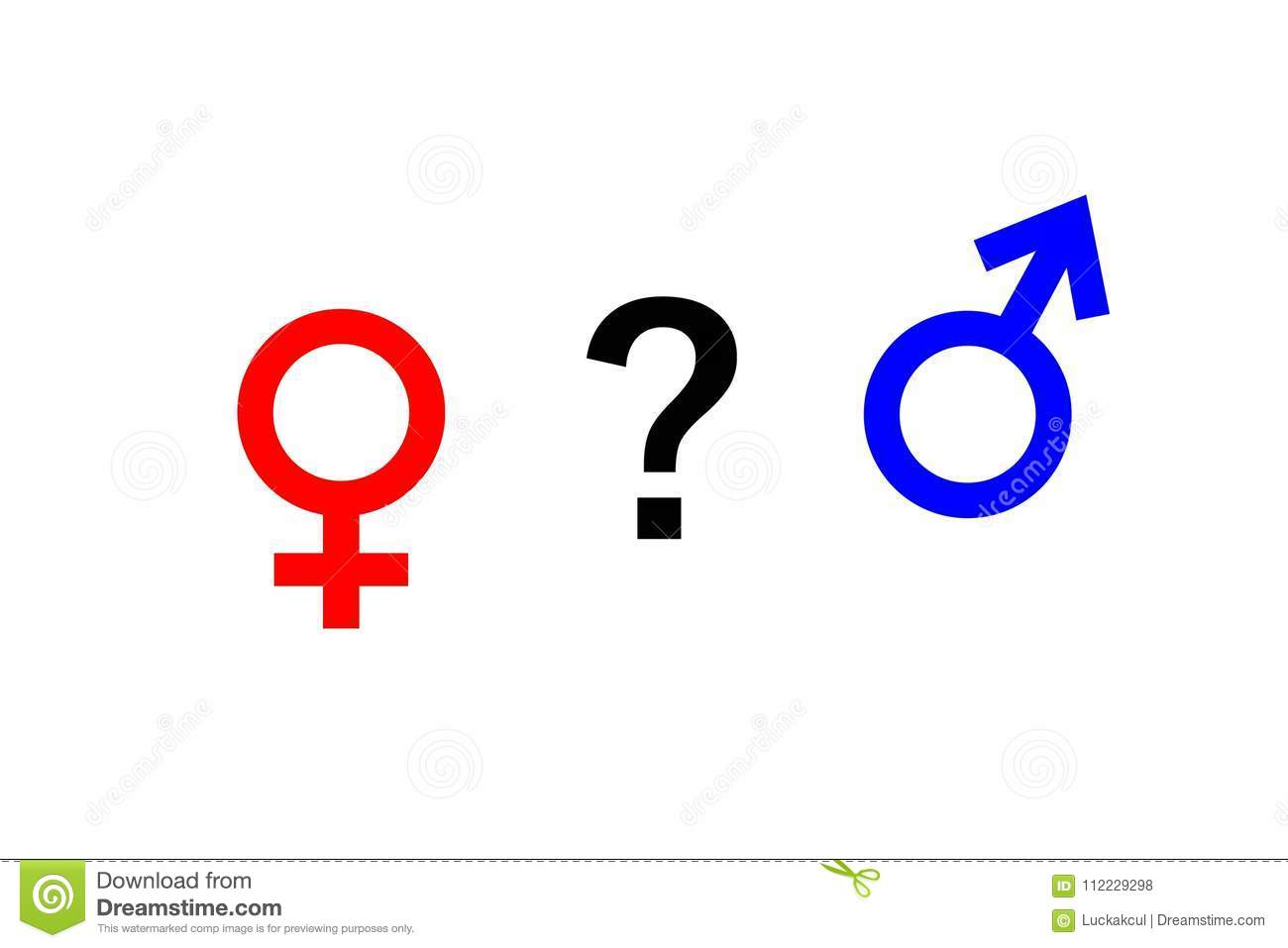 The Female Gender Symbol And The Male Gender Symbol And Question