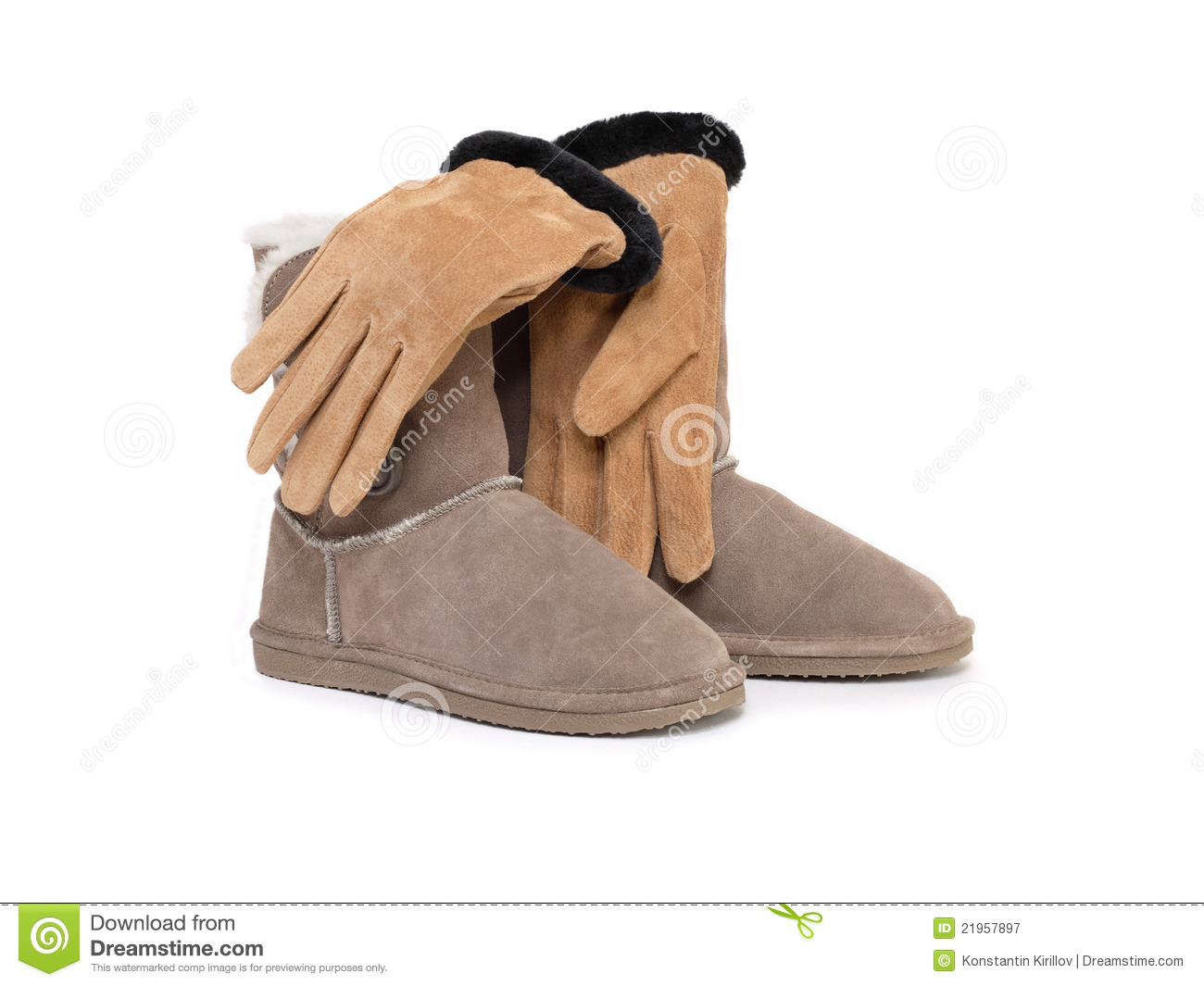 Female Gloves And Boots Royalty Free Stock Photography - Image ...