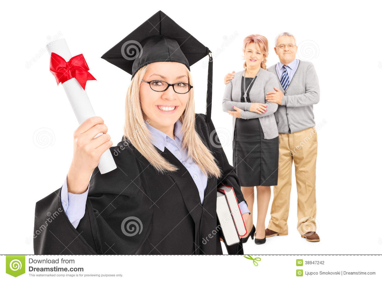 female graduate student and her proud parents stock photo mother father and daughter clipart father and daughter clipart images