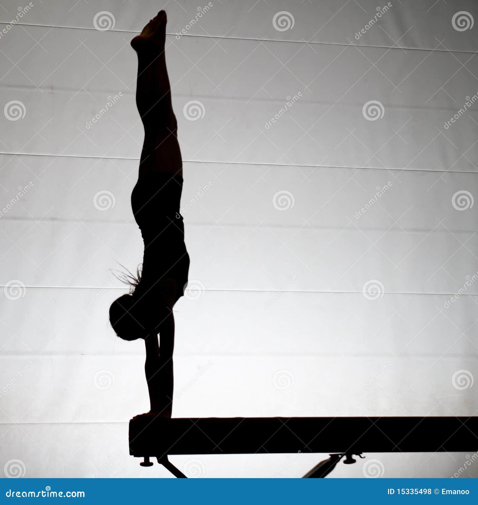 Female Gymnast Handstand Stock Photo Image Of Light