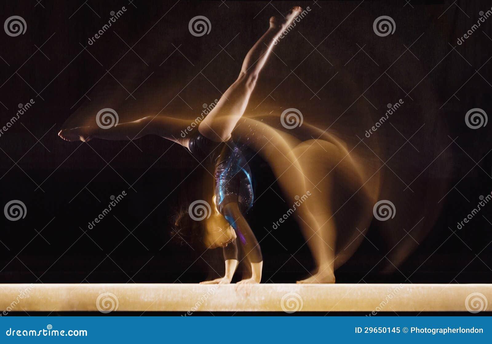 Female Gymnast In Motion