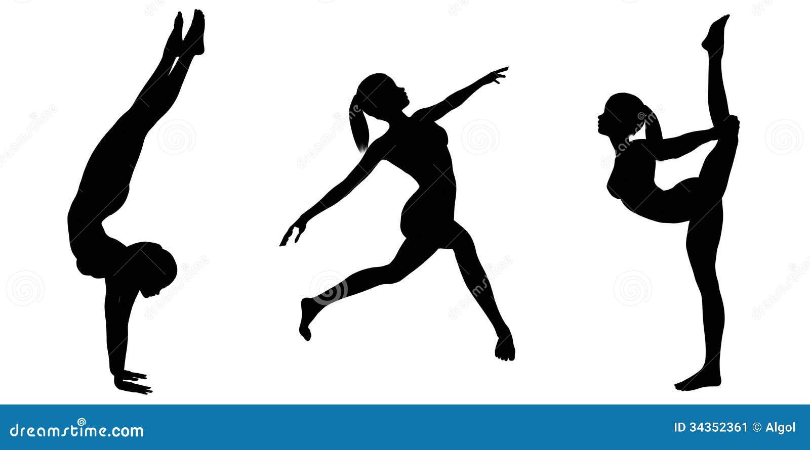 female gymnast silhouettes 2