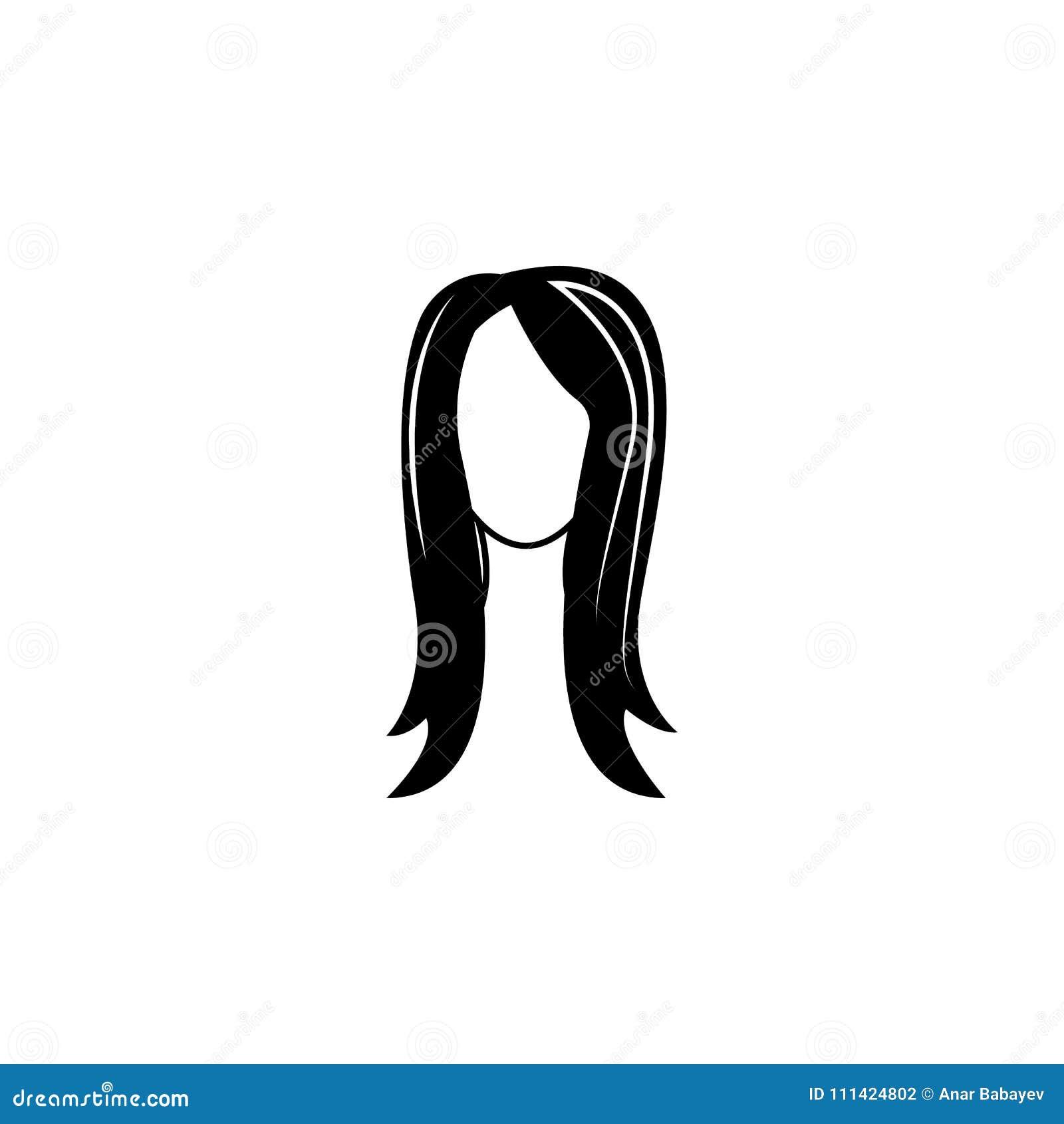 Female Hairstyle Icon.Element Hairstyles Icon. Premium Quality ...