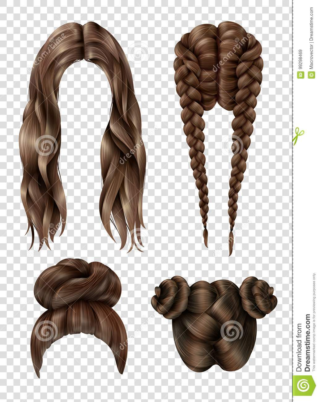 Female Hairstyles Set Stock Vector Illustration Of Haircut 99298469
