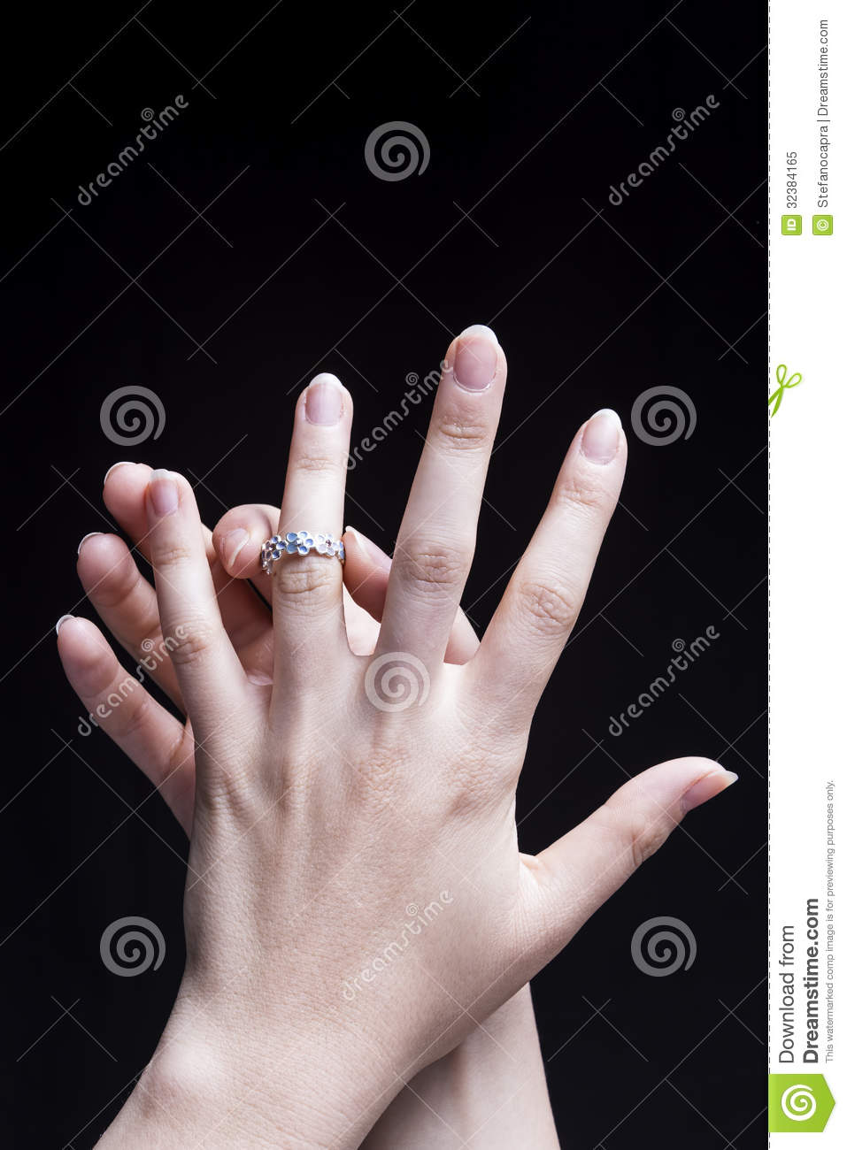 Female Hand Engagement stock image. Image of care, clean - 32384165