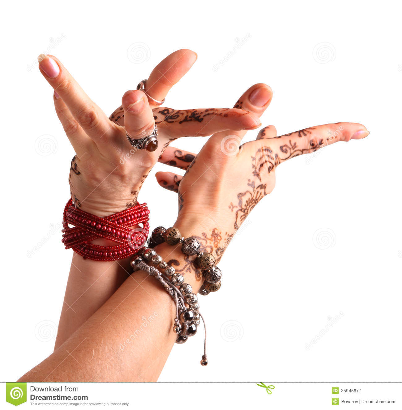 Female Hand Gesture Of Oriental Dance. Female Hand With ...