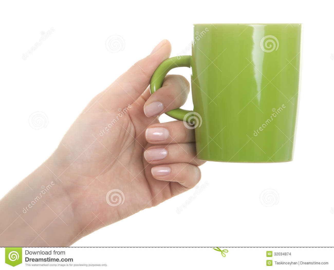 Hand Holding Travel Mug