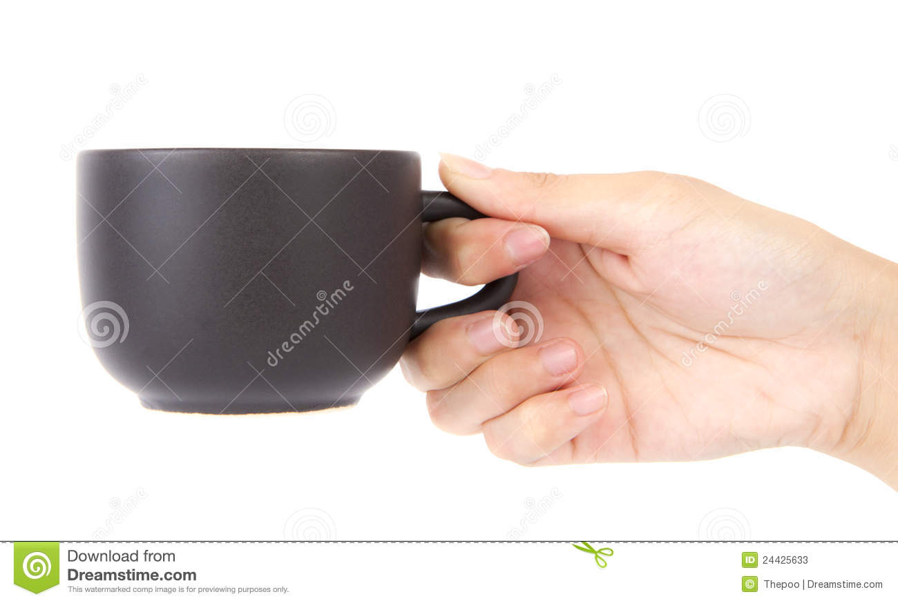 Female Hand Holding A Cup Of Coffee Stock Photos Image