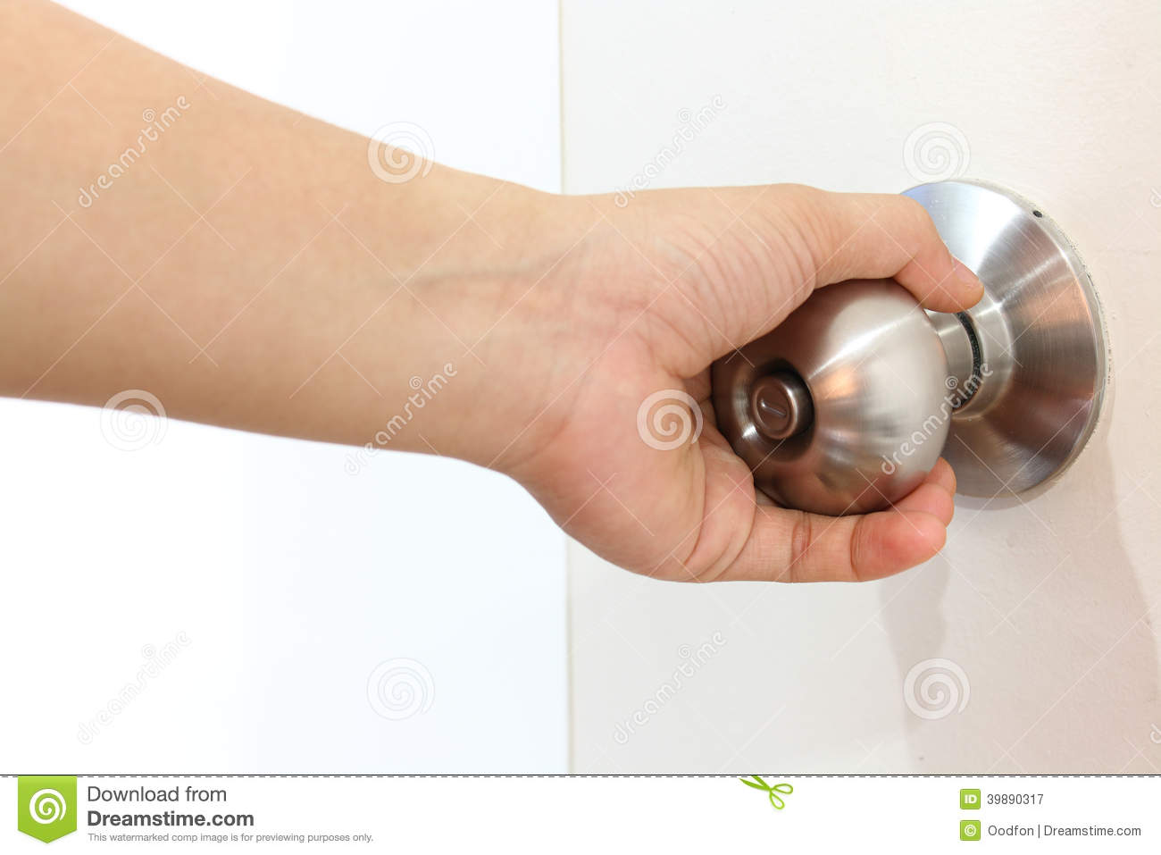 Female Hand Is Holding The Knob Stock Image - Image of doorknob ...