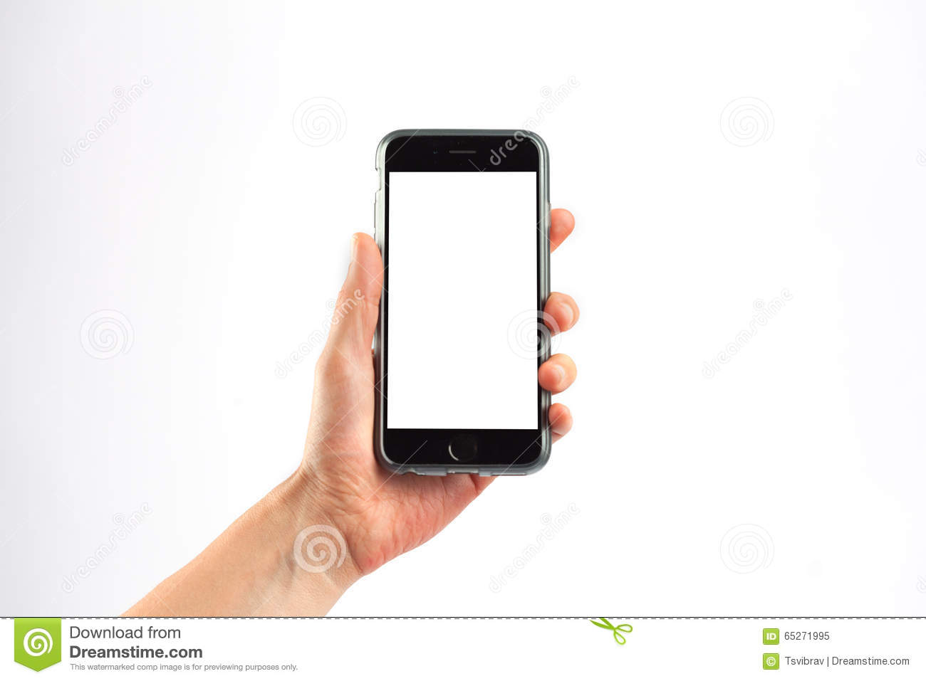 female hand holding a mobile phone vertically stock image image of