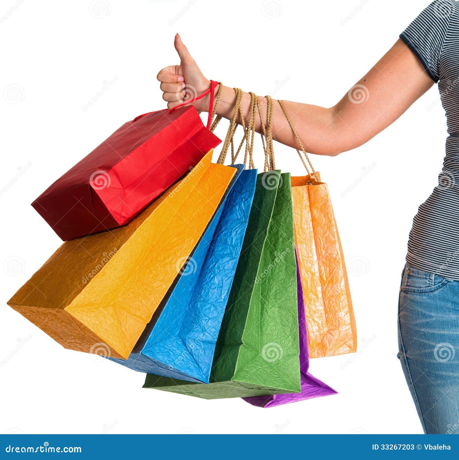 Varnish Stripe Shopping Bags | Packaging Specialties