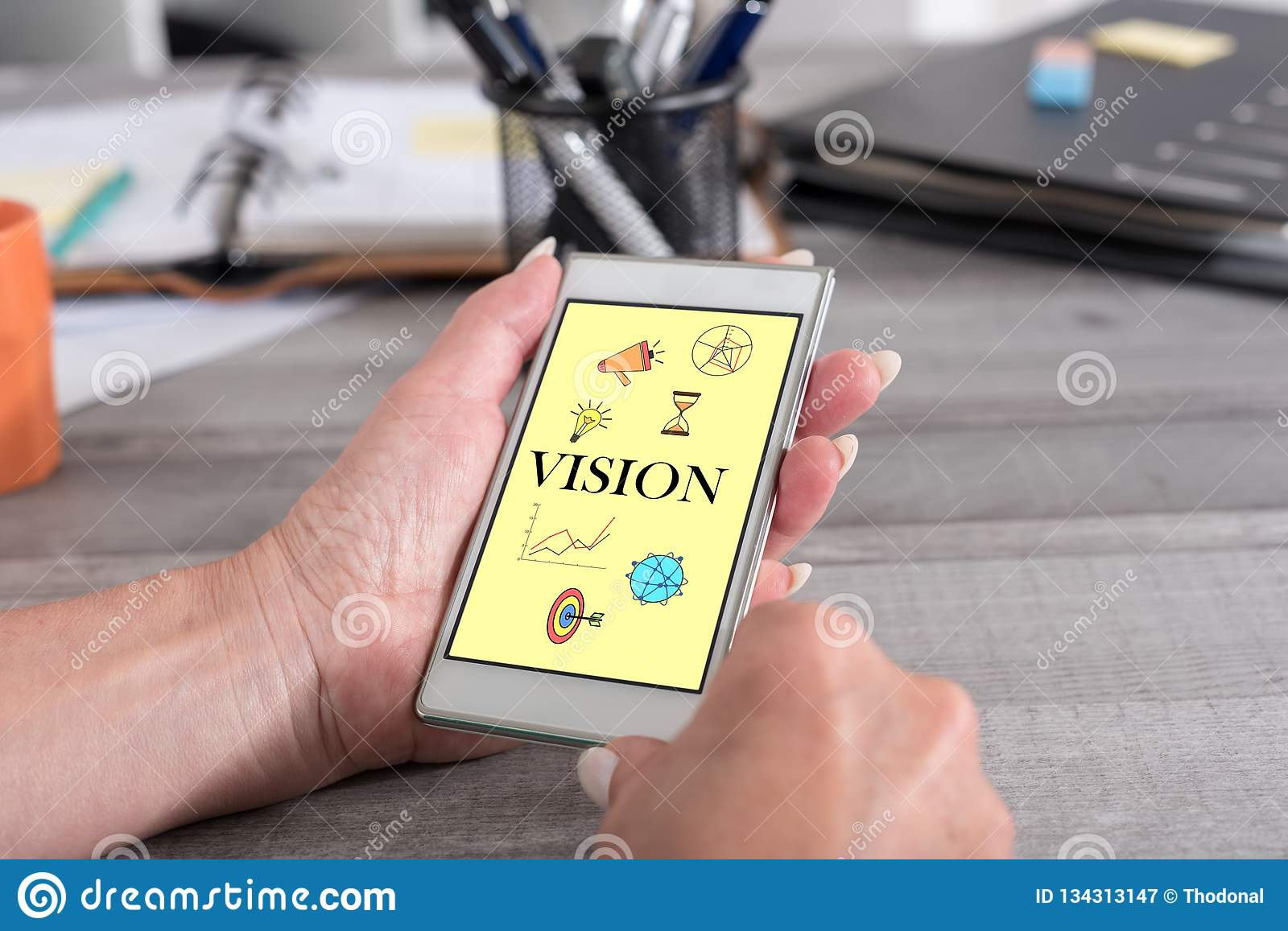 Vision concept on a smartphone
