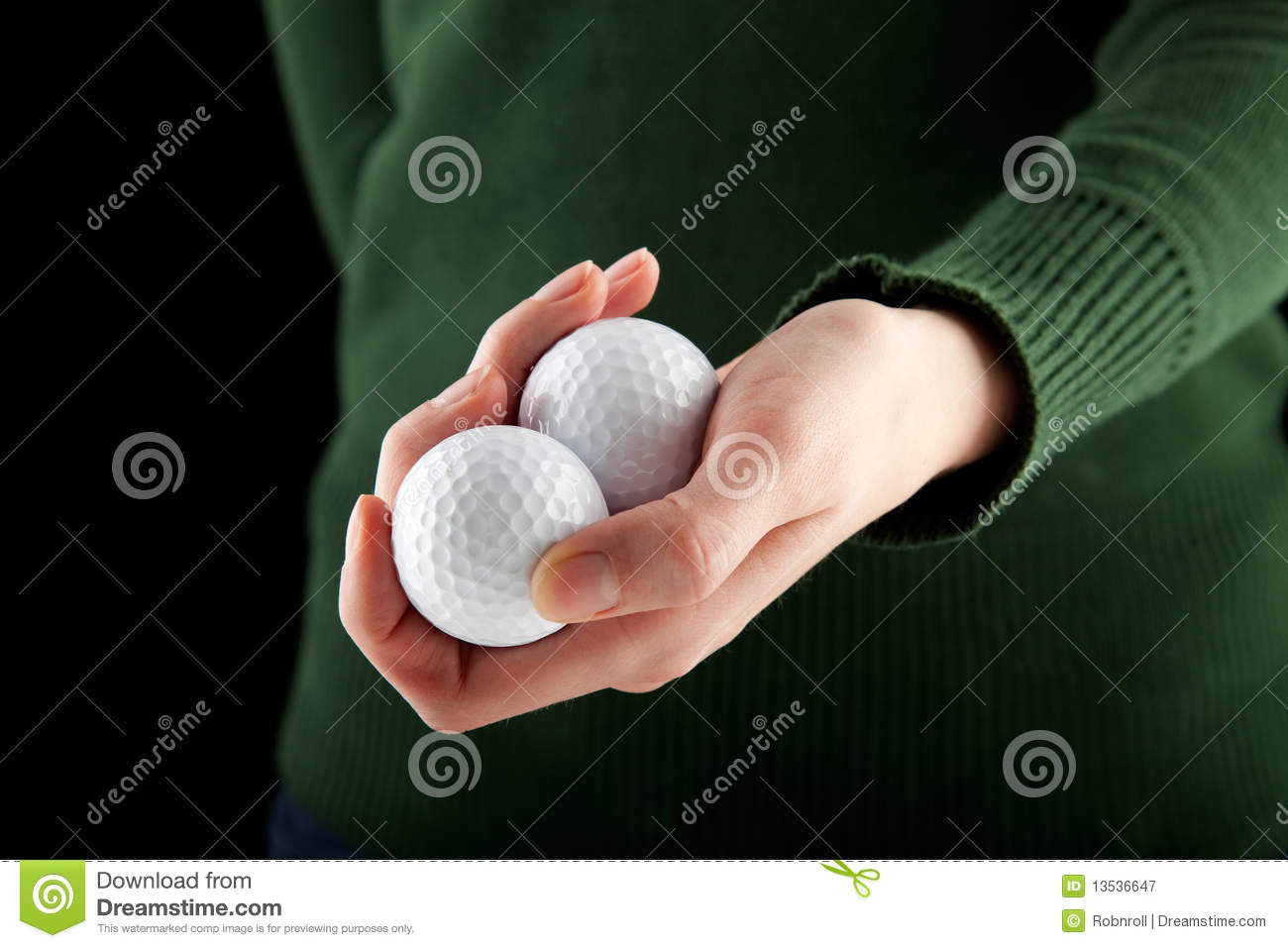 Female Hand Holding Two Golf Balls Royalty Free Stock ... Golf Ball On Tee Clipart