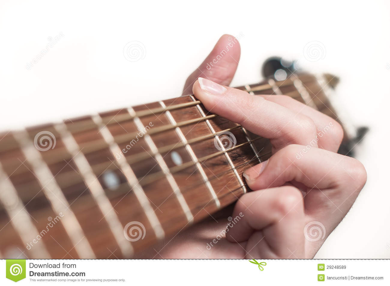 Female Hand Playing Acoustic Guitar Stock Image - Image of ...