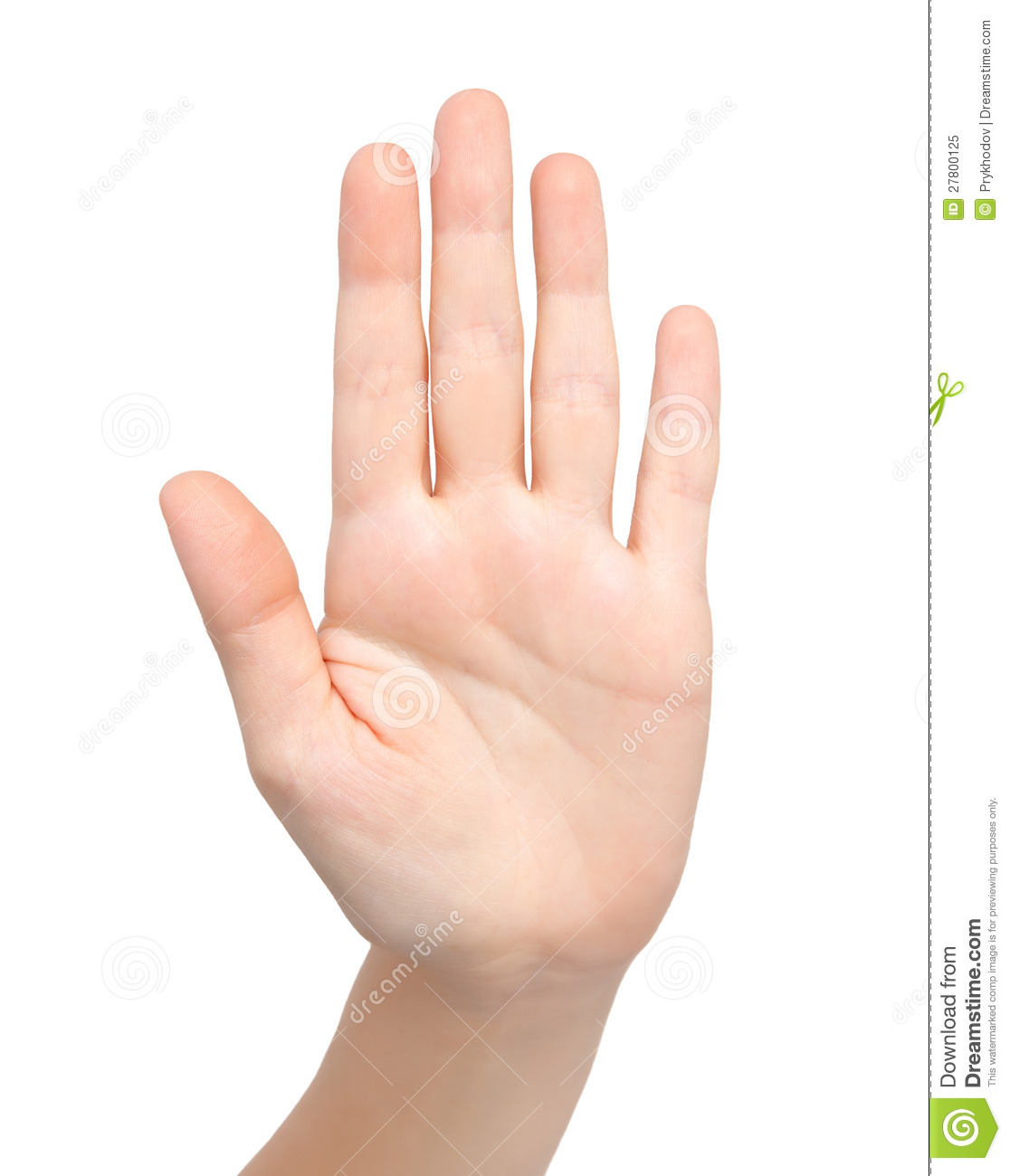 Female hand showing stop