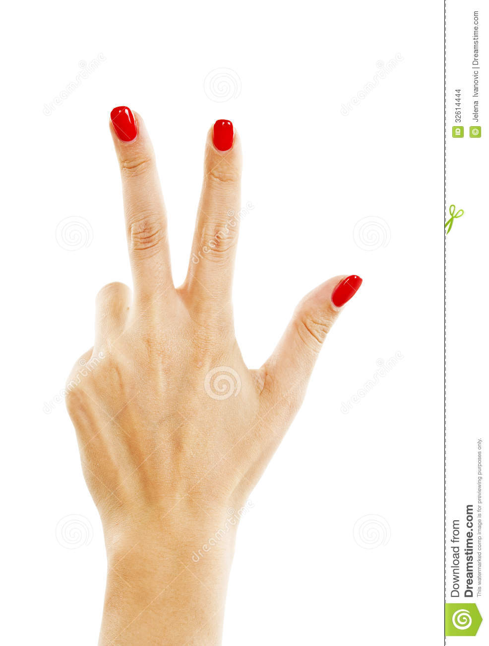Three fingers and a thumb