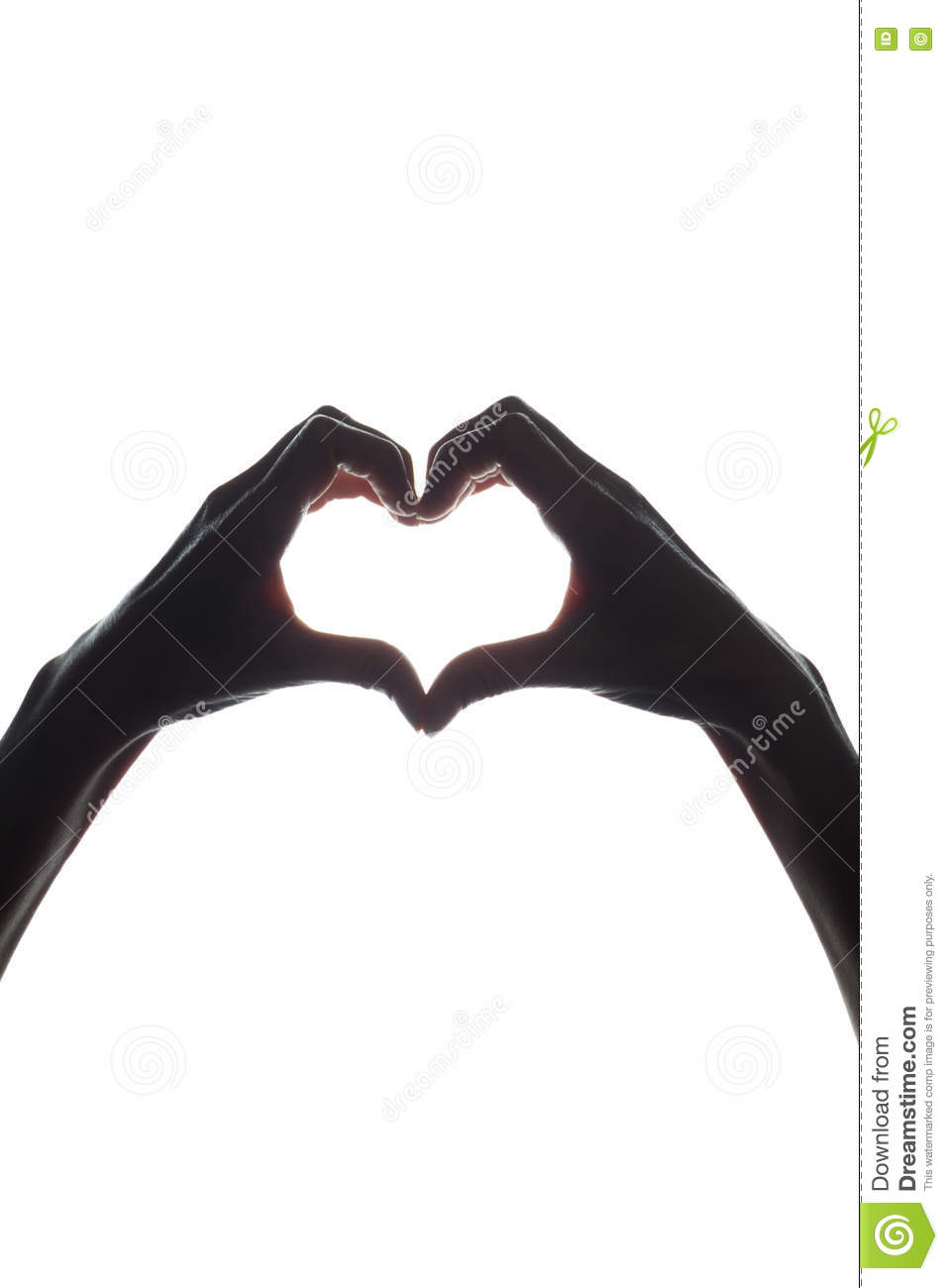 Female hands as a symbol of the heart