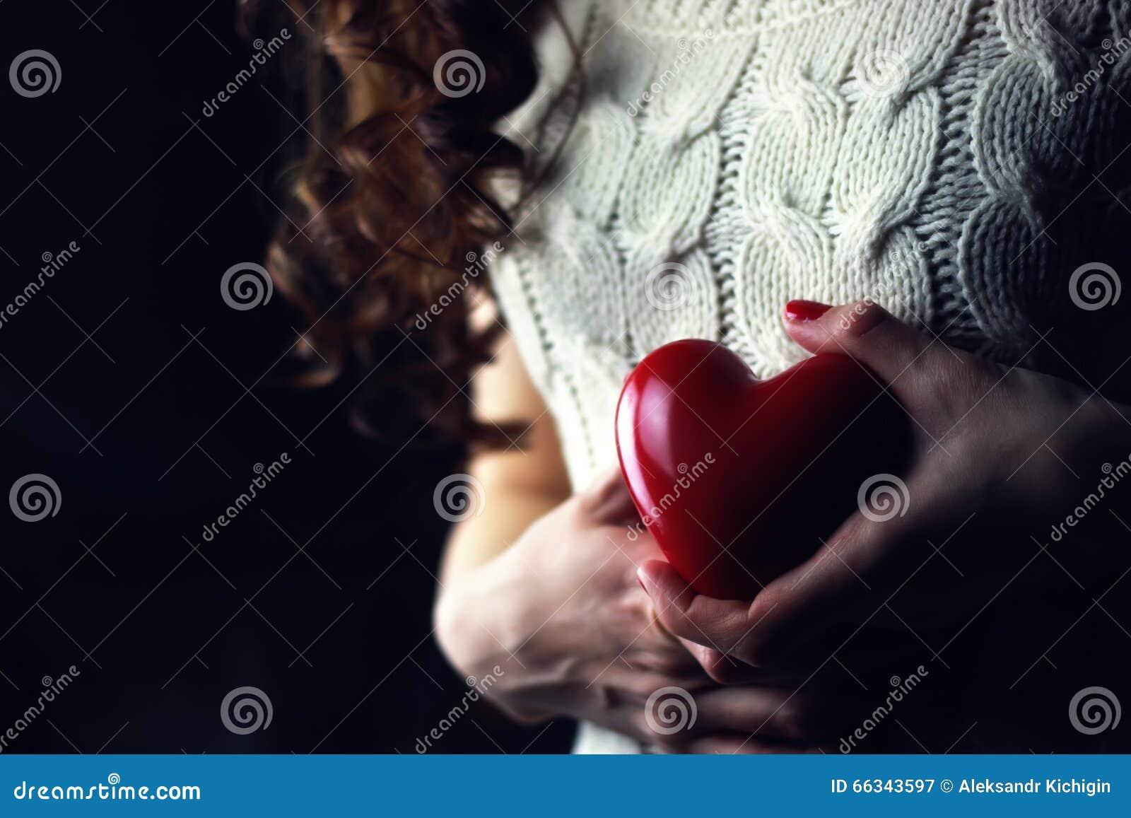 Female hands heart love