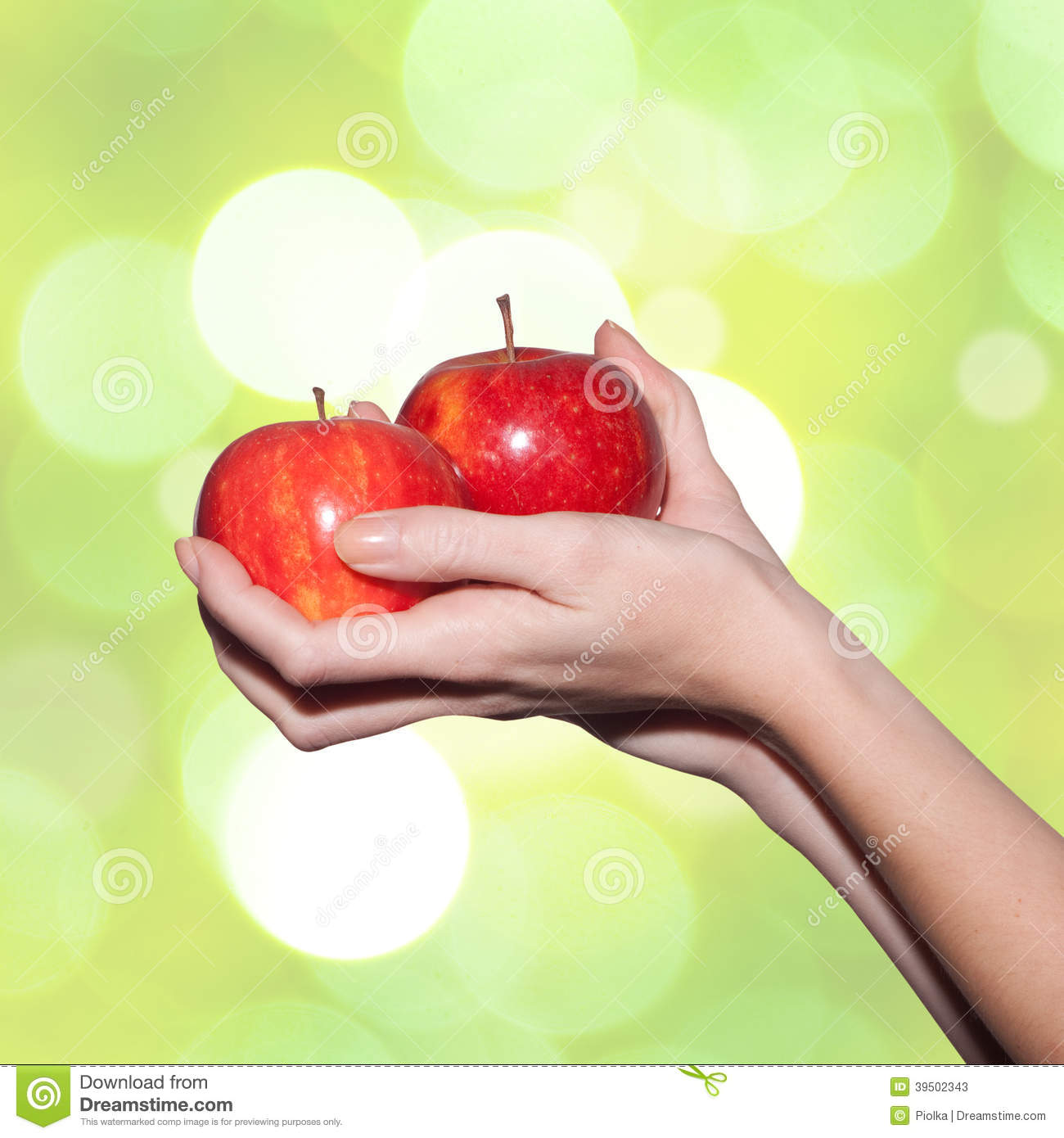 Download Female Hands Holding Apples Stock Image - Image of fresh, nutrition: 39502343