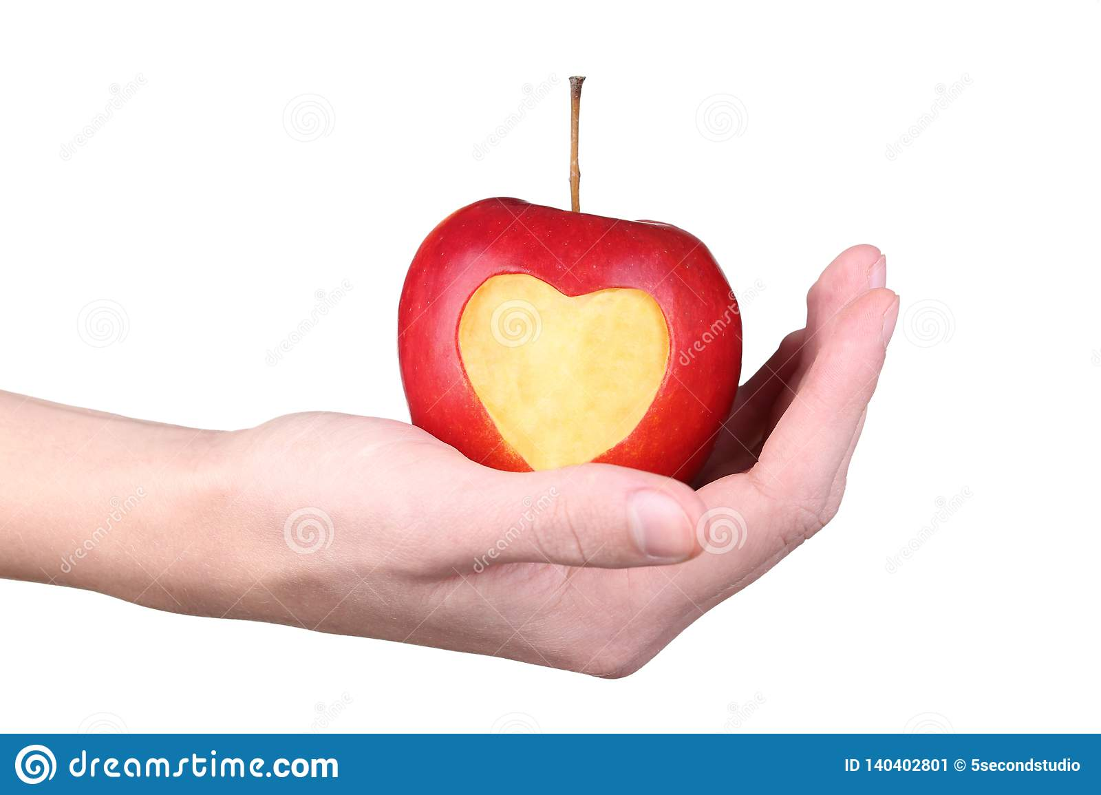 Hands Holding Apple Stock Image Image Of Hand Delicious