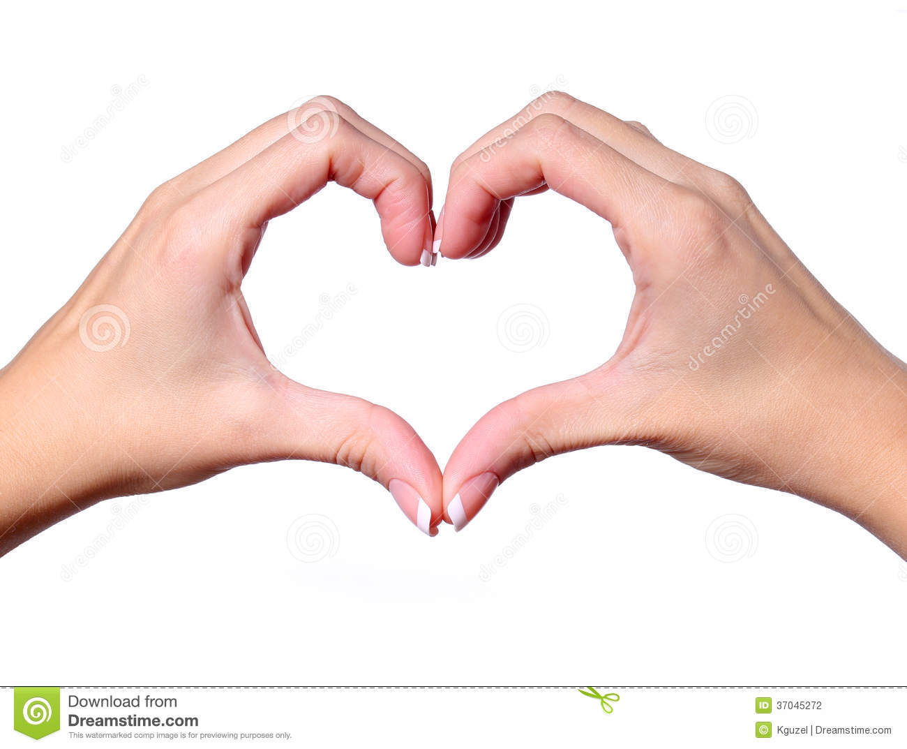 Female hands making a heart shape isolated