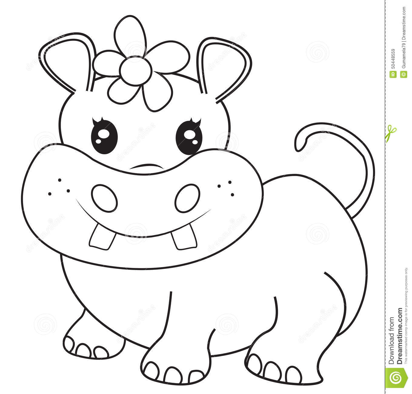 Hippo coloring pages for kids sketch coloring page for Baby hippo coloring pages