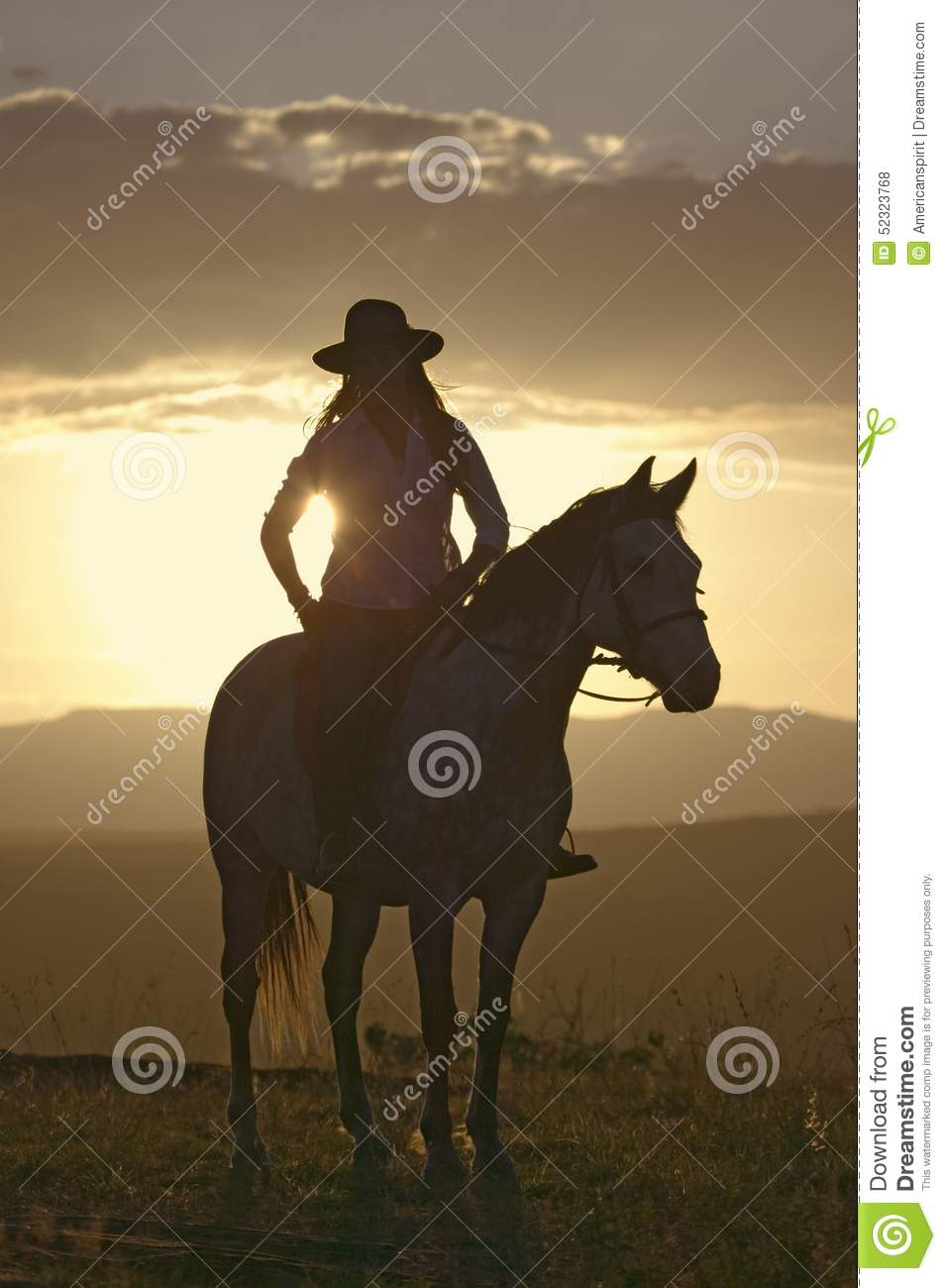 Download Female Horseback Rider And Horse Ride To Overlook At Lewa Wildlife Conservancy In North Kenya, Africa At Sunset Editorial Stock Photo - Image of domestic, lifestyle: 52323768