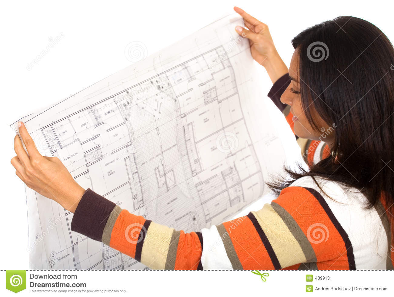 Female Interior Designer Stock Image Image 4399131