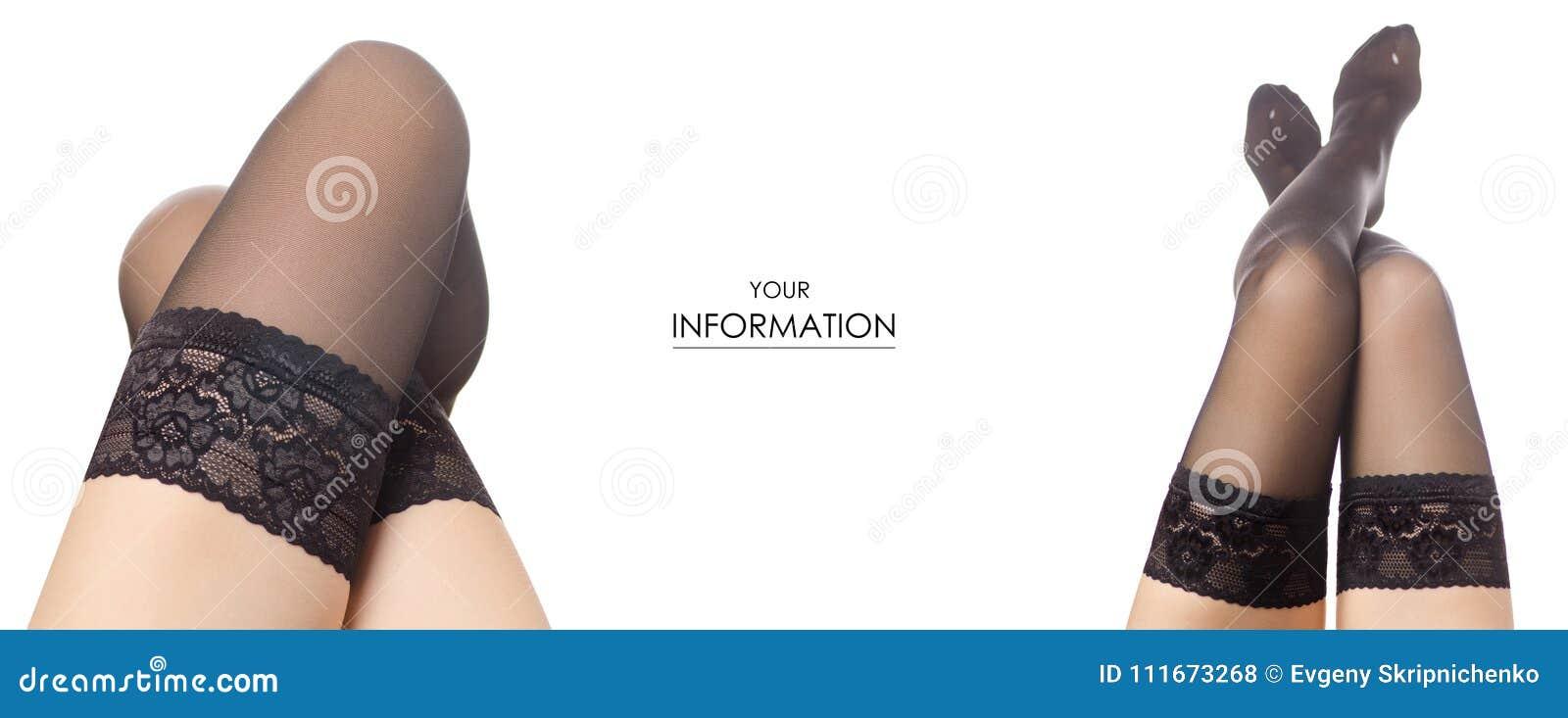 3896c2ce257 Female legs black nylon stockings fashion beauty buy sale shop set pattern  on a white background isolation