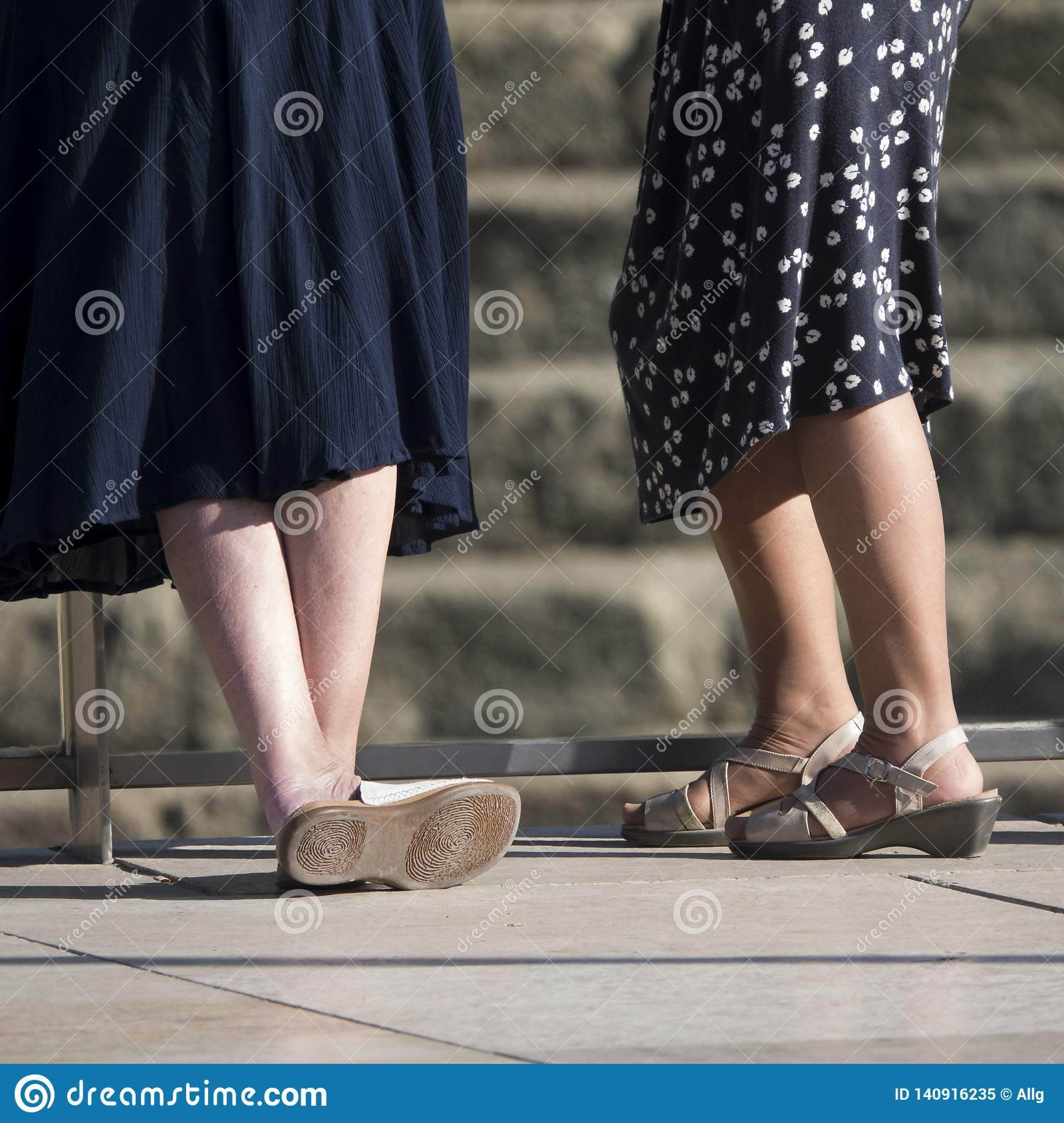 Female Legs Of Mature Women In The Street Stock Image - Image Of Legs, Immobile -9198