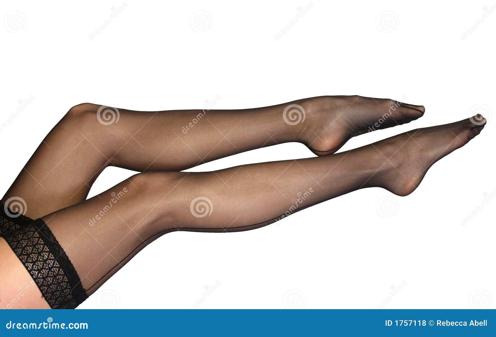 Female Legs and Nylon Stockings