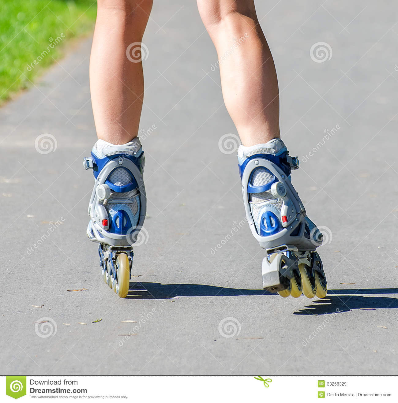 Woman Inline Skating Wiring Diagrams Simple Event Counter Circuit Diagram Tradeoficcom Female Legs In Roller Blades Royalty Free Stock Images Hockey Skates