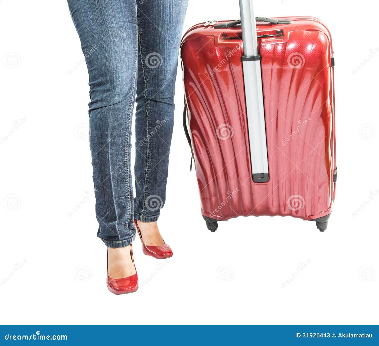 Female and Luggage Bag II