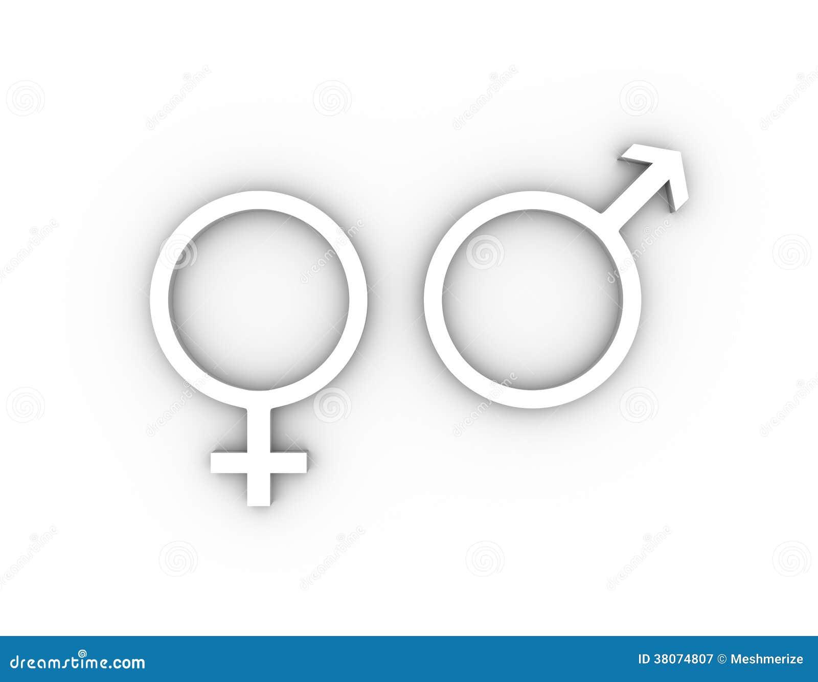 Female and male gender symbols in white stock illustration female and male gender symbols in white buycottarizona