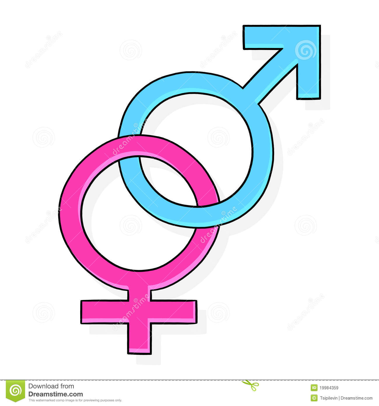 Female And Male Symbol Stock Illustration Illustration Of Drawing