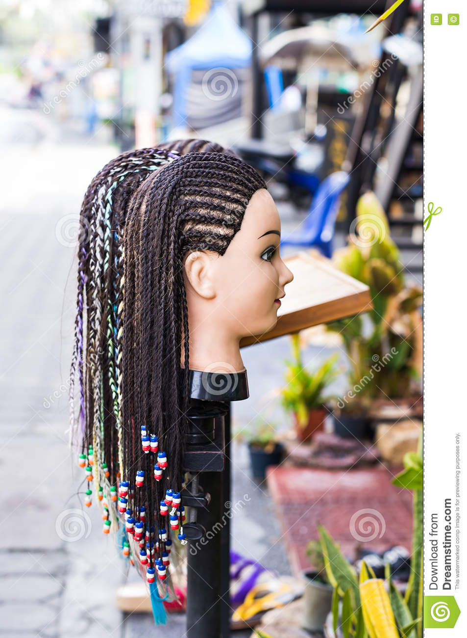 Marvelous Female Mannequin Head With Braided Pigtails Hairstyle Decorated Hairstyle Inspiration Daily Dogsangcom
