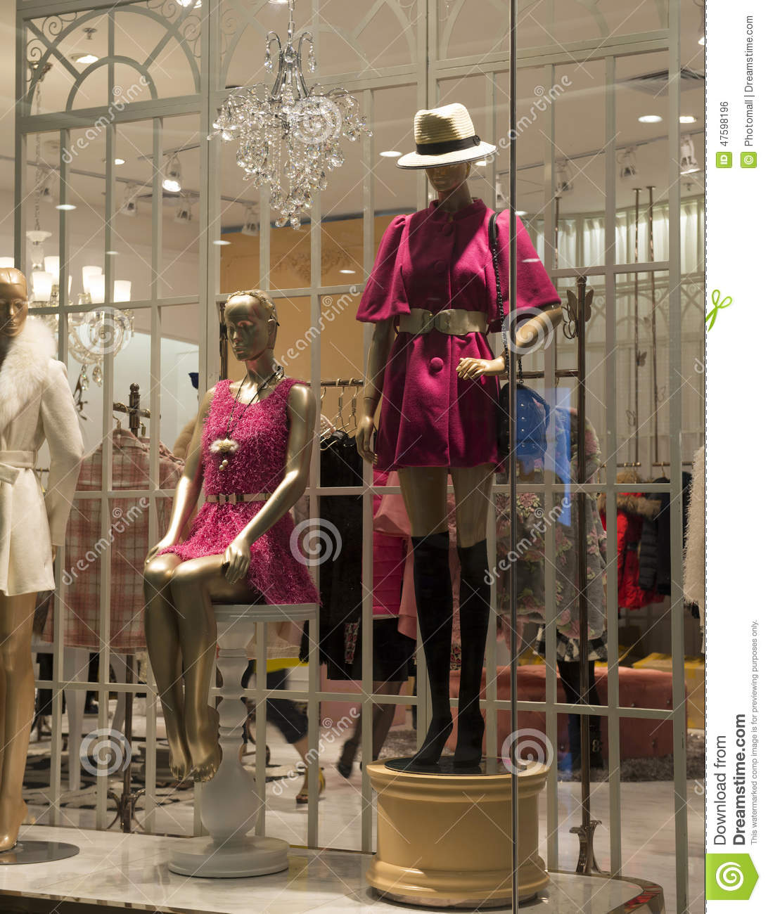 Clothing store mannequins