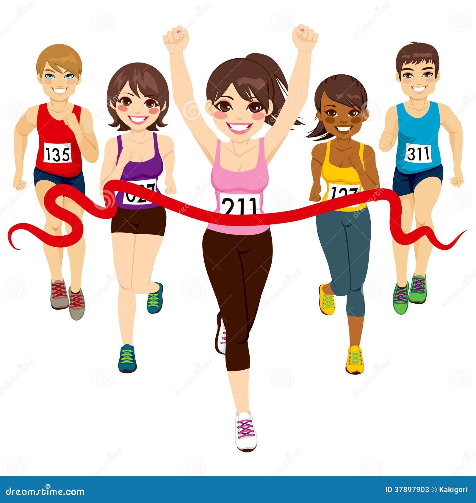 Female Marathon Winner Stock Photos Image 37897903