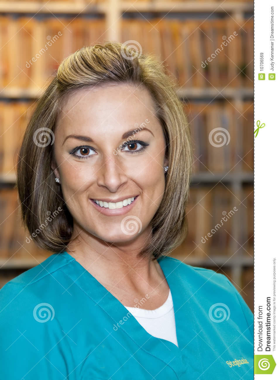 Female Medical Assistant Stock Image Image Of Brown