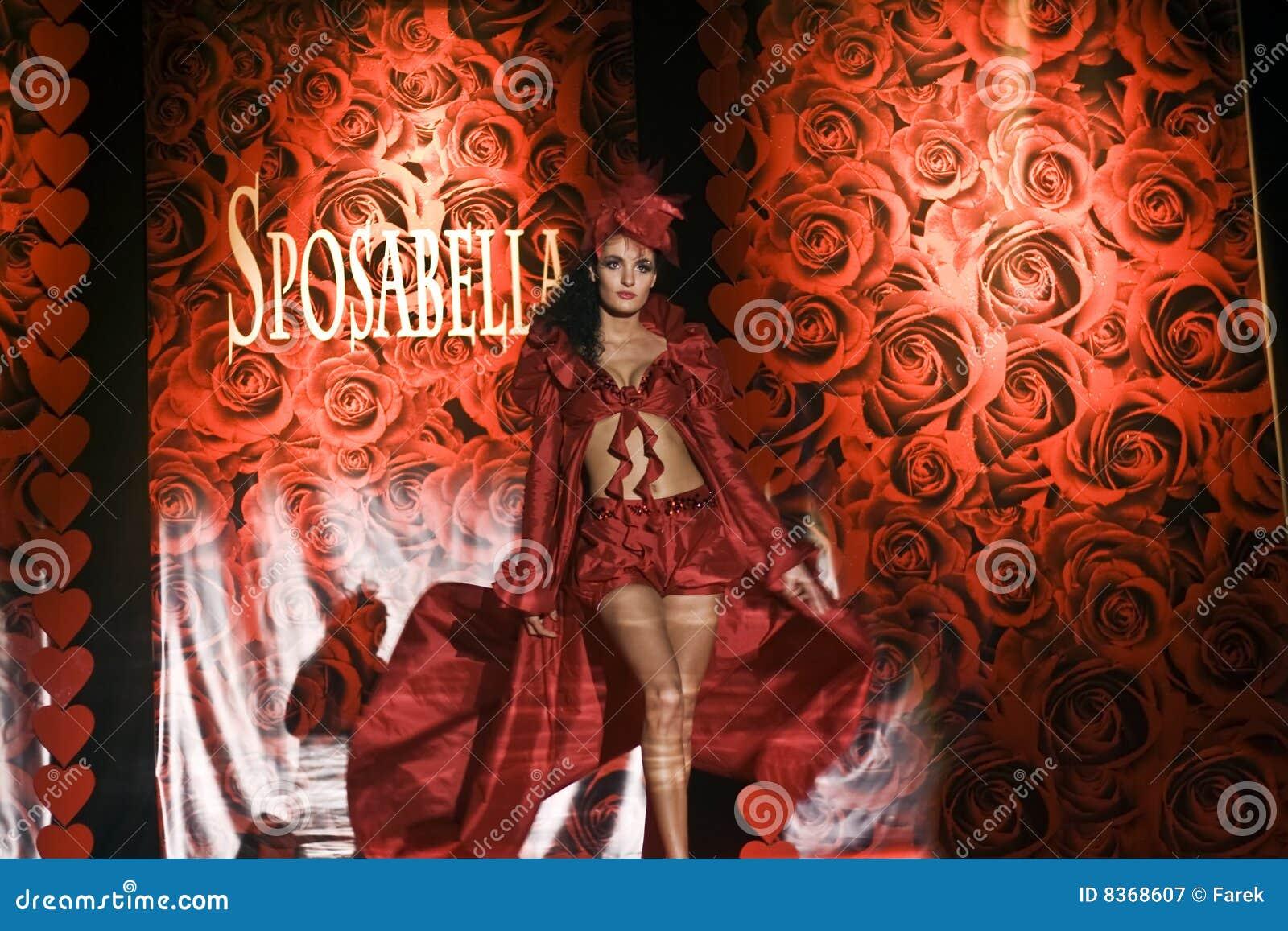 Female model on fashion show