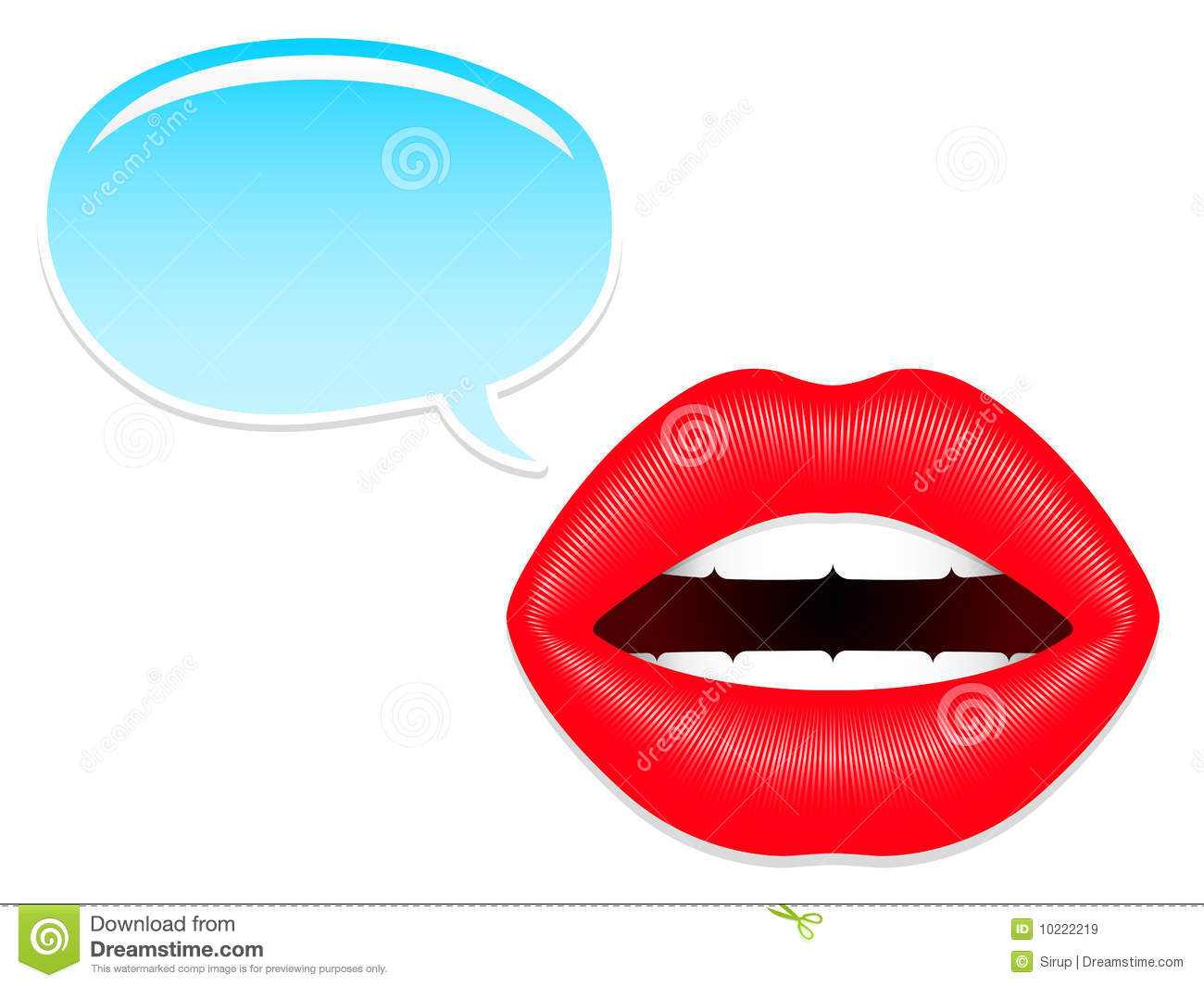 Royalty Free Stock Images Female Mouth Speech Bubbles Image10222219 on cartoon lips talking