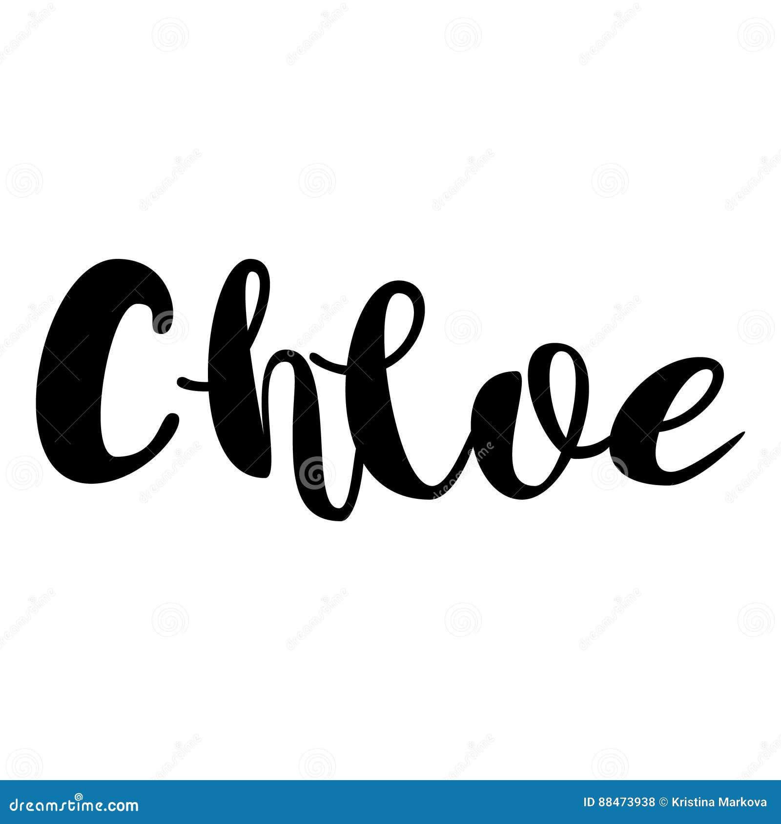 Female Name Chloe Lettering Design Handwritten Typography V